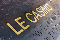 Free Inscription On The Threshold In The Monte Carlo Casino, Mona Stock Photography - 67521182