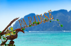 Inscription paradise Royalty Free Stock Image