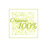 Inscription 100 percentage organic. Stock Images