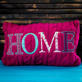 The inscription on the pillow home royalty free stock photography