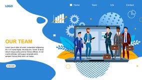 Inscription plate de bannière notre Team Landing Page illustration de vecteur