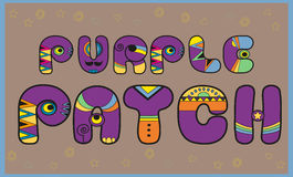 Inscription Purple Patch. Colored Letters Royalty Free Stock Images