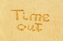 Inscription on the sand Royalty Free Stock Photography