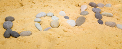 The inscription on the sand Royalty Free Stock Photos