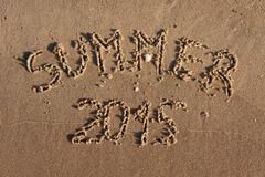 The inscription on the sand summer Royalty Free Stock Images
