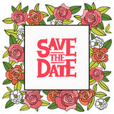 Inscription Save the date in the square Stock Image