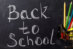Inscription on the school board Royalty Free Stock Images