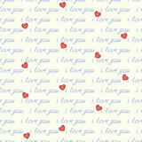 The inscription seamless I love you Stock Images