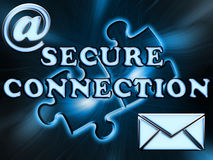Inscription secure connection Stock Photography