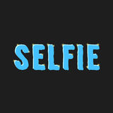 Inscription selfie with glare. Isolated on black background. flat style trendy modern eps10 vector illustration Royalty Free Stock Photos