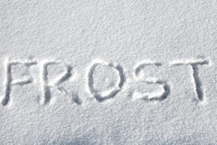Inscription on the Snow Stock Photography