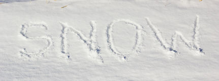 Inscription Snow Royalty Free Stock Photography