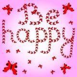 Inscription : Soyez heureux pour votre conception Images libres de droits
