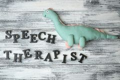 Inscription SPEECH THERAPIST made with letters
