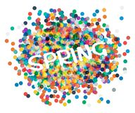 Inscription spring confetti. Vector illusytation. 10 eps Royalty Free Stock Photography