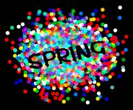 Inscription spring confetti. Vector illusytation. 10 eps vector illustration