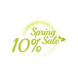 Inscription spring sale. Stock Photo