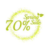 Inscription spring sale. Stock Photo
