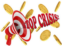 Inscription stop crisis Royalty Free Stock Photography