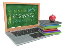 Inscription success in business and laptop Stock Images