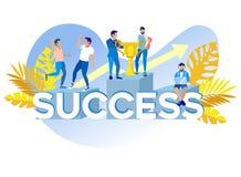 Inscription Success Vector Illustration Cartoon. vector illustration