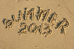 Inscription  Summer 2013 Royalty Free Stock Photo