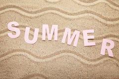 Inscription Summer stock photography