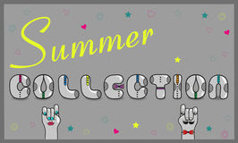 Inscription Summer Collection. Vector Illustration Royalty Free Stock Image