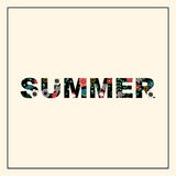 Inscription summer with floral pattern. Royalty Free Stock Photo