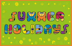 Inscription Summer Holidays. Colored Letters Royalty Free Stock Photography