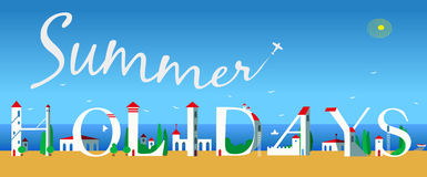 Inscription Summer Holidays. Vector Illustration Stock Photography
