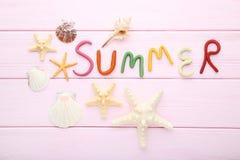 Inscription Summer royalty free stock image
