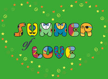 Inscription Summer of Love. Colored Letters Stock Photos