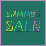 Inscription Summer Sale stock image