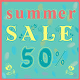 Inscription Summer Sale Royalty Free Stock Photo