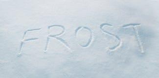 Inscription sur la neige Images stock