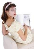 Inscription sur le journal intime Images stock