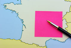 Inscription sur le post-it Images libres de droits