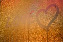 Inscription sur le verre en sueur Image libre de droits