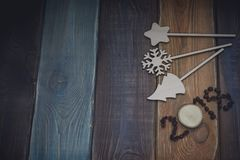 inscription 2018 sur un fond en bois coloré Image stock