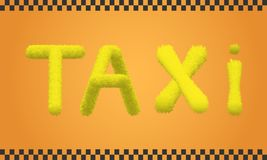 Inscription of a taxi Royalty Free Stock Photography