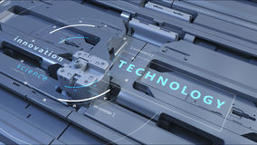 Inscription technologique sur la structure technologique abstraite illustration libre de droits