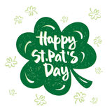 Inscription to the St. Patrick's Day. Scalable and editable vector illustration (eps Royalty Free Stock Photo