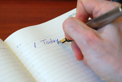 Inscription Today with gold pen Royalty Free Stock Photo