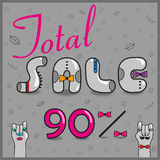 Inscription Total Sale. Vector Illustration stock photos