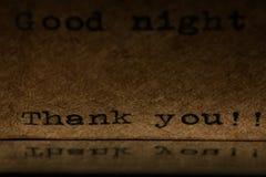 Inscription on a typewriter dark Stock Photography