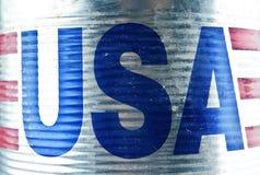 Inscription - USA. On corrugated metal   ( u s a Stock Images