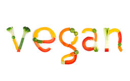 Inscription vegetables Stock Photo