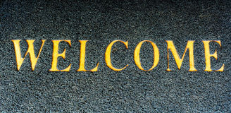 The inscription welcome to us Stock Images