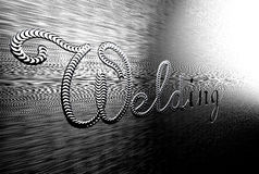 Inscription welding on a metal plate. Stock Images